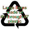 Now! Recycle large rigid plastic items